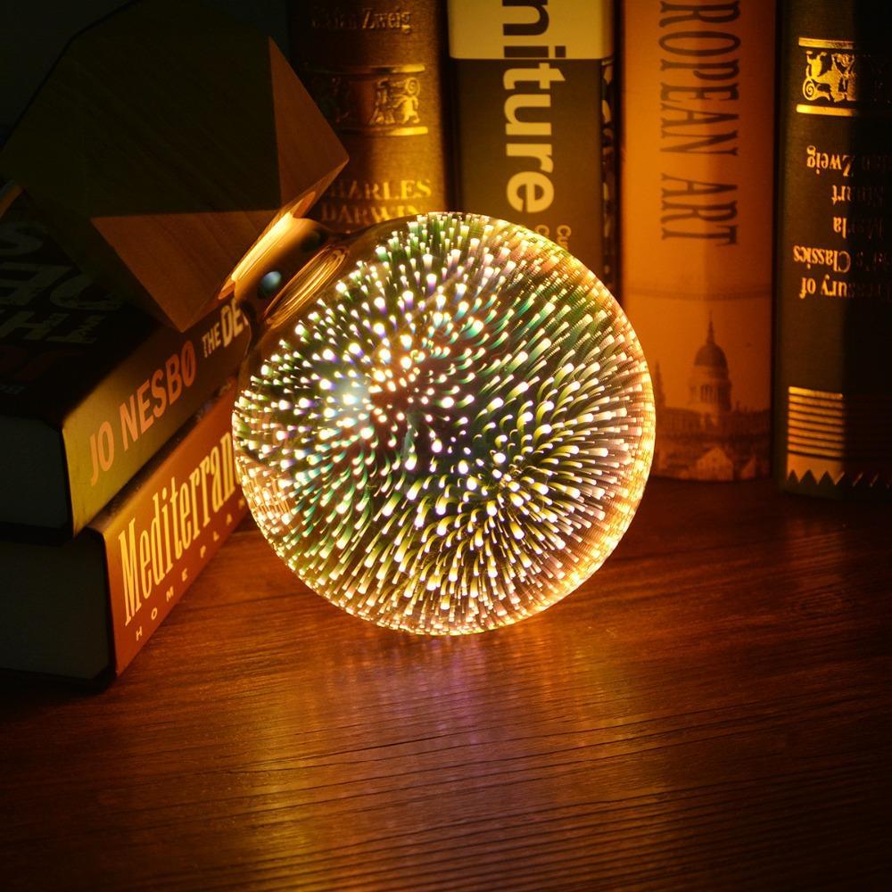 Creative Bureau Ampoule G125 D'artifice 3d Pour 110v Effet G80 Lumière Table Décorative A60 Chambre G95 St64 Led 220v Lampe De E27 Feux VGLzpqSUM