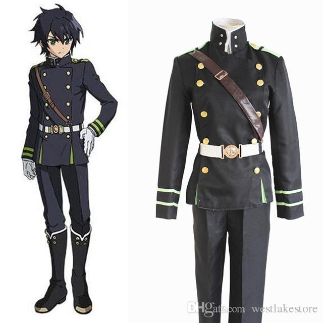 8042d19038c87 Anime Seraph Of The End Yuichiro Hyakuya Cosplay Costumes Coat Strap Belt  Pants Military Uniform Suit Carnival Costumes Cat Halloween Costumes From  ...