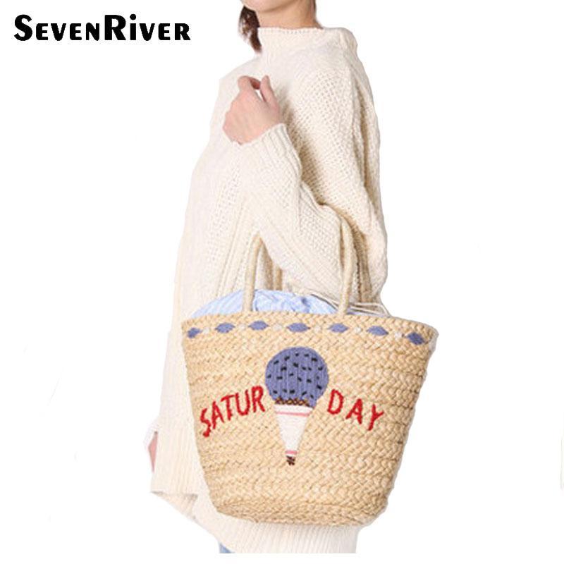 Beach Flamingo Bag Summer Woven Crochet Straw Bags For Women 2018 Handbags  Hobos Shoulder Bags Casual And Fashion Big Tote Handbag Brands Cheap Bags  From ... 45ad390d72