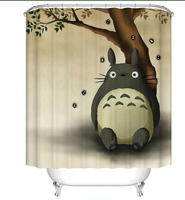 2019 My Neighbor Totoro Fabric Shower Curtain Bathroom Cartoon CurtainsFabric CurtainThin CurtainWaterproof180cm 71IN From Mxc1256