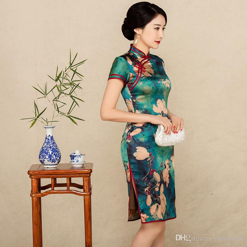 572227b1f84 2018 Summer High Quality Elegant Plus Size Short Sleeve Real Silk ...