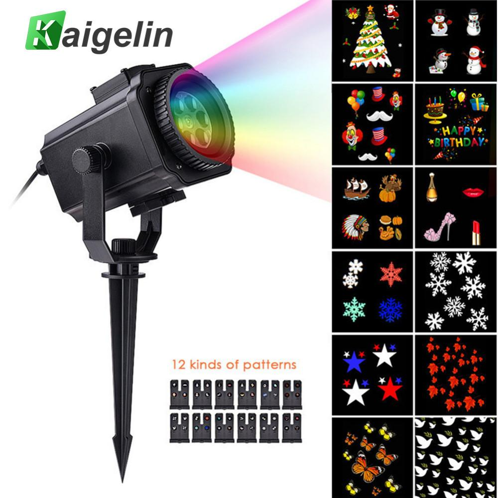 12 Film Cards Star Projector Christmas Lights Outdoor Laser Fairy ...