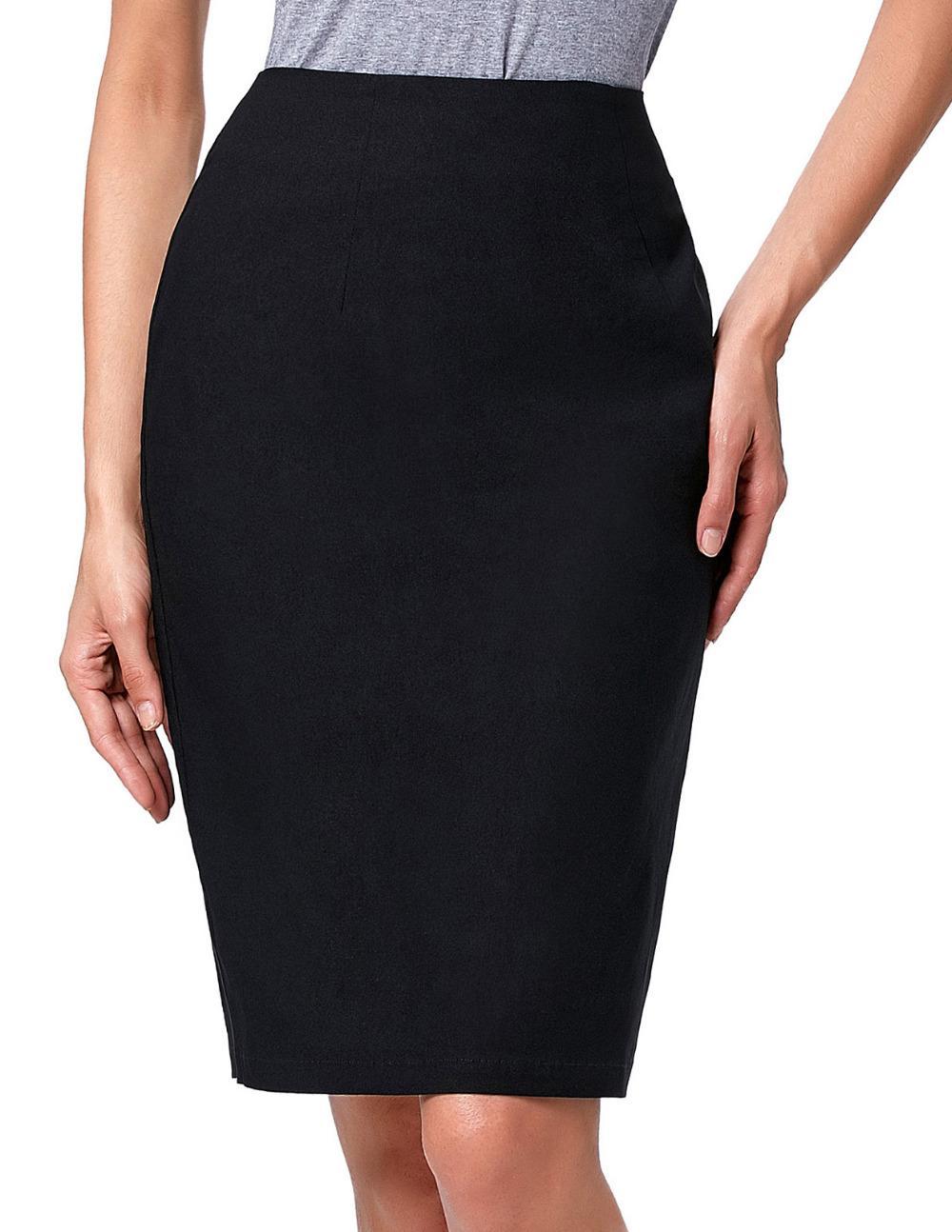 d287cdc84a High Elastic Slim Office Skirts Women Summer Skirt 2016 Black White ...