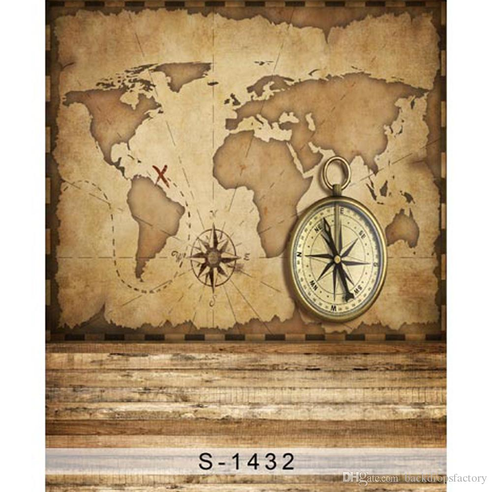 2019 Retro Vintage Old World Map Wall Backdrop For graphy