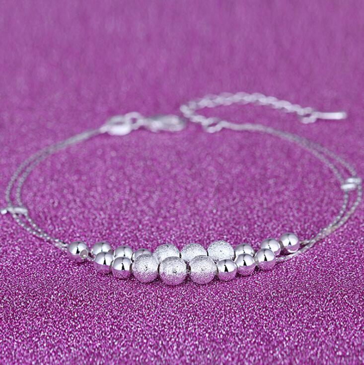 2018 Yeni Ayak Takı Halhal Sıcak Satış Gümüş Halhal Link Zinciri Kadınlar Için Kız Ayak Bilezik Moda Takı Toptan Ücretsiz Kargo
