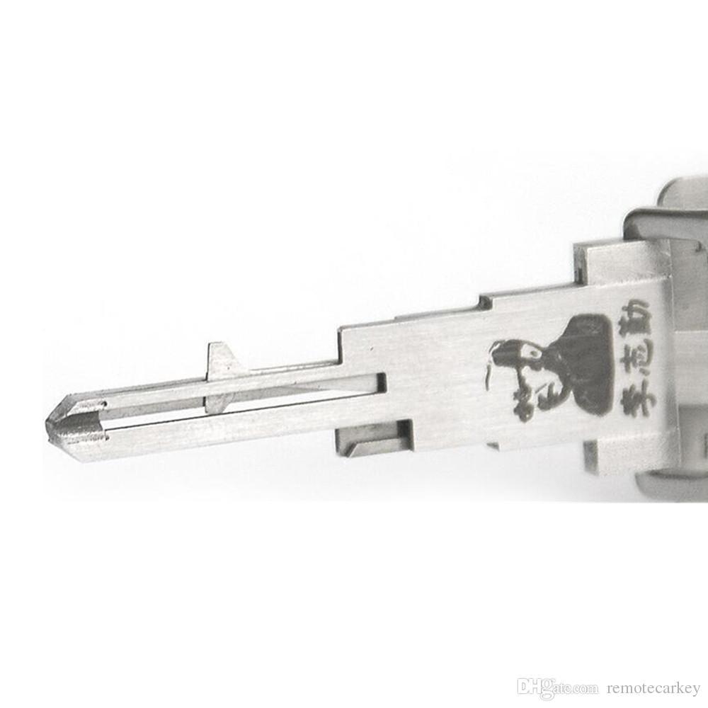 Lishi 2 em 1 nissan nsn14 picareta decodificador ferramenta lock pick pick set auto abridor de porta o274