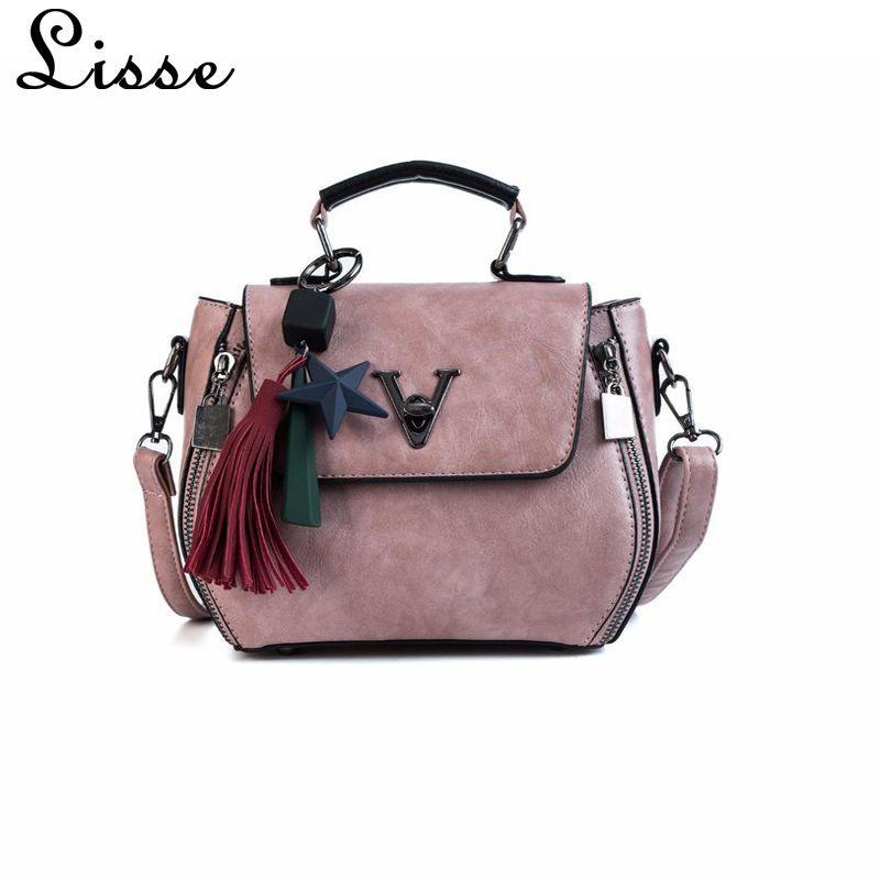 13a19052918 Women Handbags 2018 Tassel Famous V Designers Leather Handbags ...