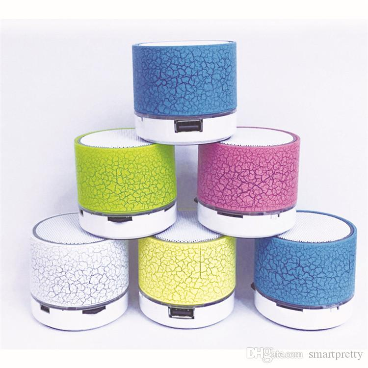 A9 Wireless Speaker Bluetooth Mini Speakers Portable Crackle Texture Led  Colored Flash Speaker For PC MP3 iphone X