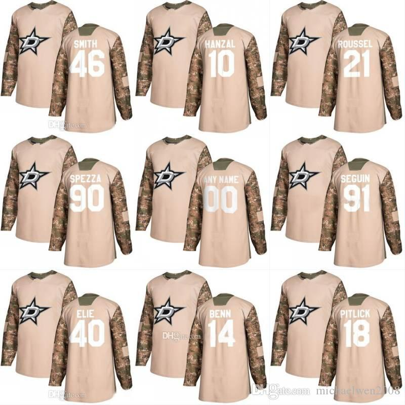 c73648e244b 2019 2018 Camo Veterans Day 6 Julius Honka 28 Stephen Johns 3 John  Klingberg 23 Esa Lindell Dallas Stars Custom Hockey Jerseys From  Michaelwen2008