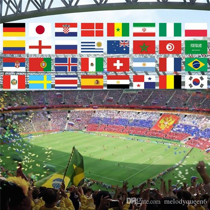 2018 Russia World Cup Football Soccer 32 Team National Flag Country Wolrd Banner Bunting 14cm*21cm String Flag
