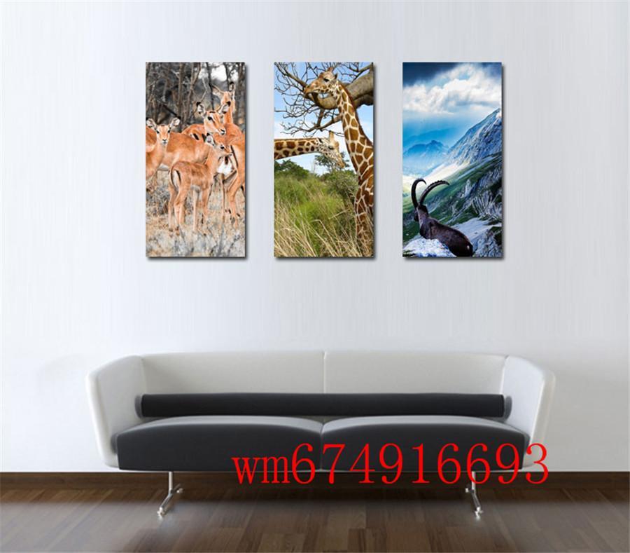 2019 Deer Antelope Giraffe Home Decor HD Printed Modern Art Painting On Canvas Unframed Framed From Wm674916693 1709