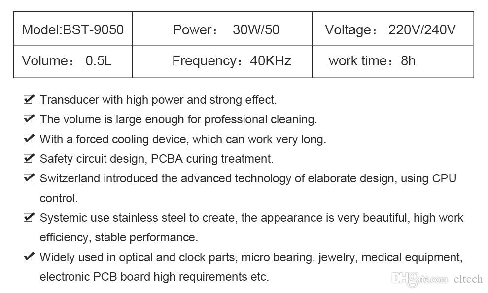 Líquido de limpeza ultra-sônico industrial de aço inoxidável de 30W / 50W Digitas