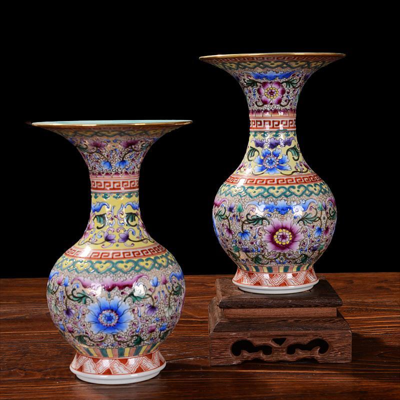 Antique Handpainted Ceramic Vase Enamel Antique Vase Classical
