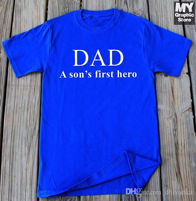 7de3ec40d Dad Shirt Fathers Day Gift Dad And Son Shirt Gifts For Dad From Son Daddy  Gift Different T Shirts Day Shirt From Dhivanka, $11.17| DHgate.Com