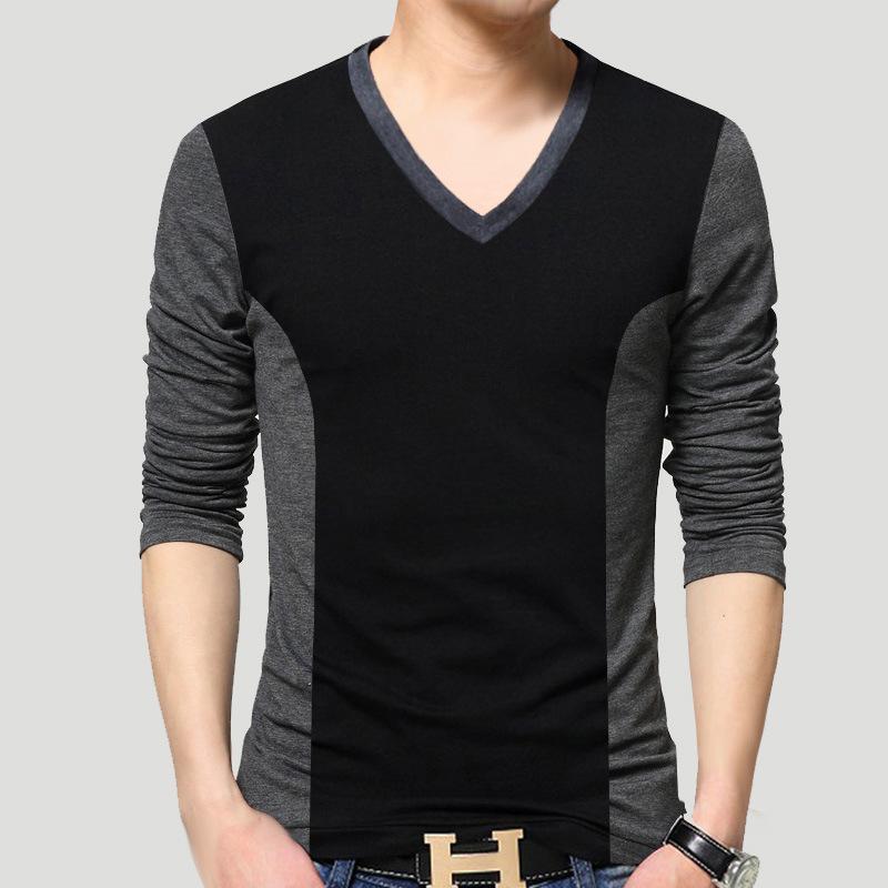 093e2318ae6 Mens T Shirt Slim Fit V Neck T Shirt Men Long Sleeve Shirt Casual Tshirt Tee  Tops Mens Short Shirt Size M 5XL Funny T Shirts Prints Funky T Shirt Design  ...