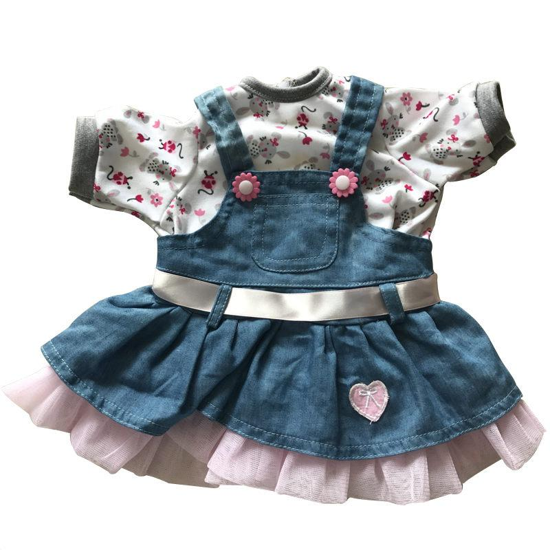 NPK 22'' Reborn Baby Doll Clothes With 13 Fashion Style Hot Silicone Reborn 55cm Bebe Doll Accessories For Kids To DIY Dolls