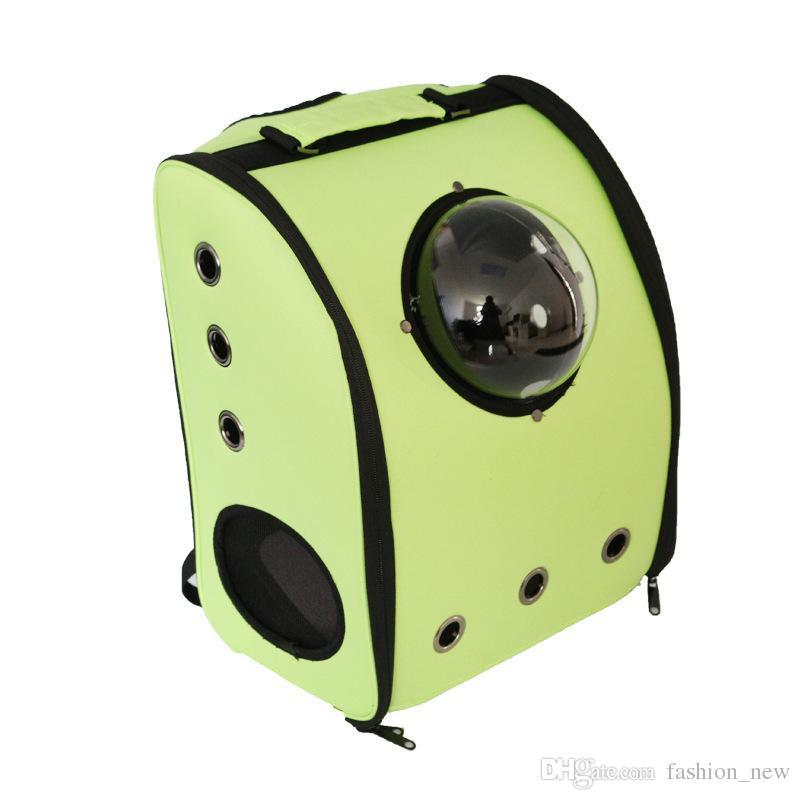 الفضاء المقصورة الحيوانات الأليفة الناقل تنفس الكلب القط ظهره جرو الكلب في الهواء الطلق المحمولة حزمة حقيبة القط أكياس الحيوانات الأليفة السفر الكلب الناقل