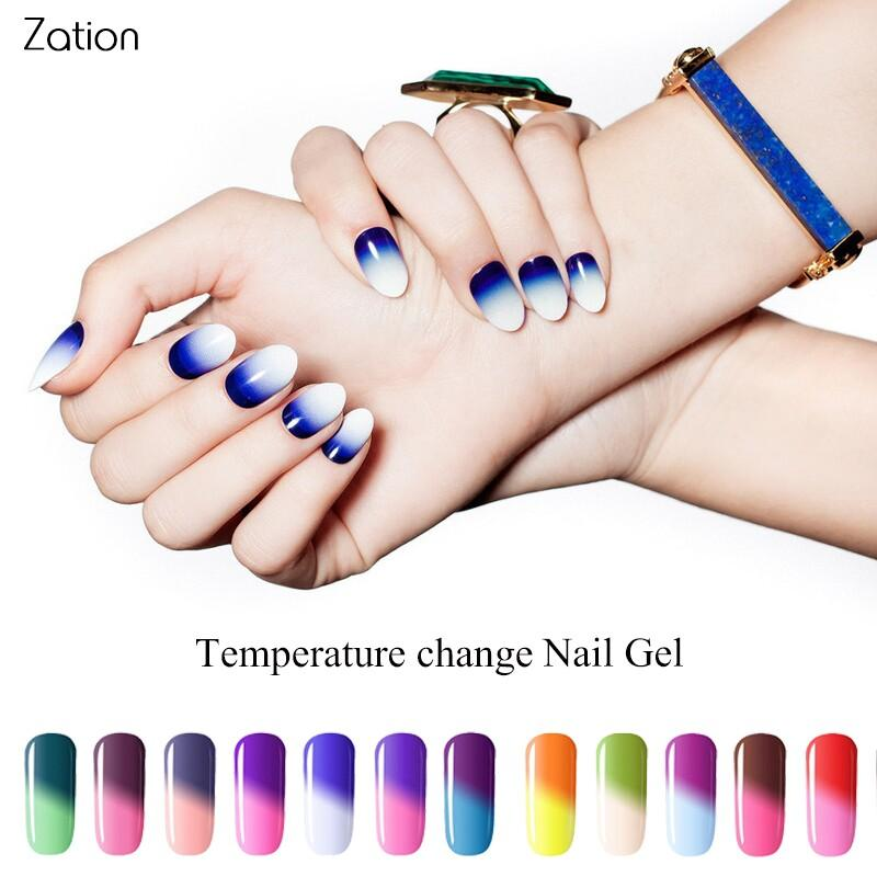 Zation Temperature Chameleon Series Nail Polish Color Changing Soak ...