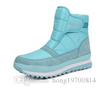 Size35-45 men Women Boots Waterproof Platform Fur Female Warm Ankle Sneakers Snow Boot Woman Winter Women Cotton Shoes