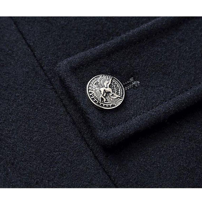 Invierno Famosa marca abrigo de lana para hombre Abrigo largo abrigo chaqueta abrigos abrigos hombres Mezclas de lana 170hfx