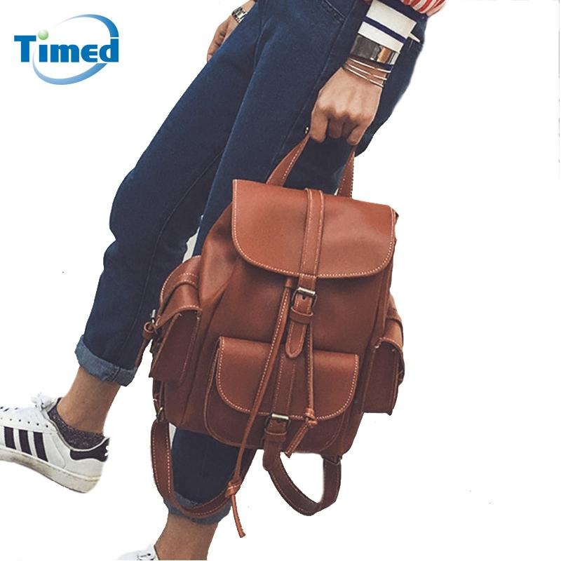 a3b06239a94a 2017 Europe Style Women Fashion Backpacks Retro Leather Backpack New Preppy  Style All Match Backbags Travel Backpack For Female Hunting Backpacks  Gregory ...