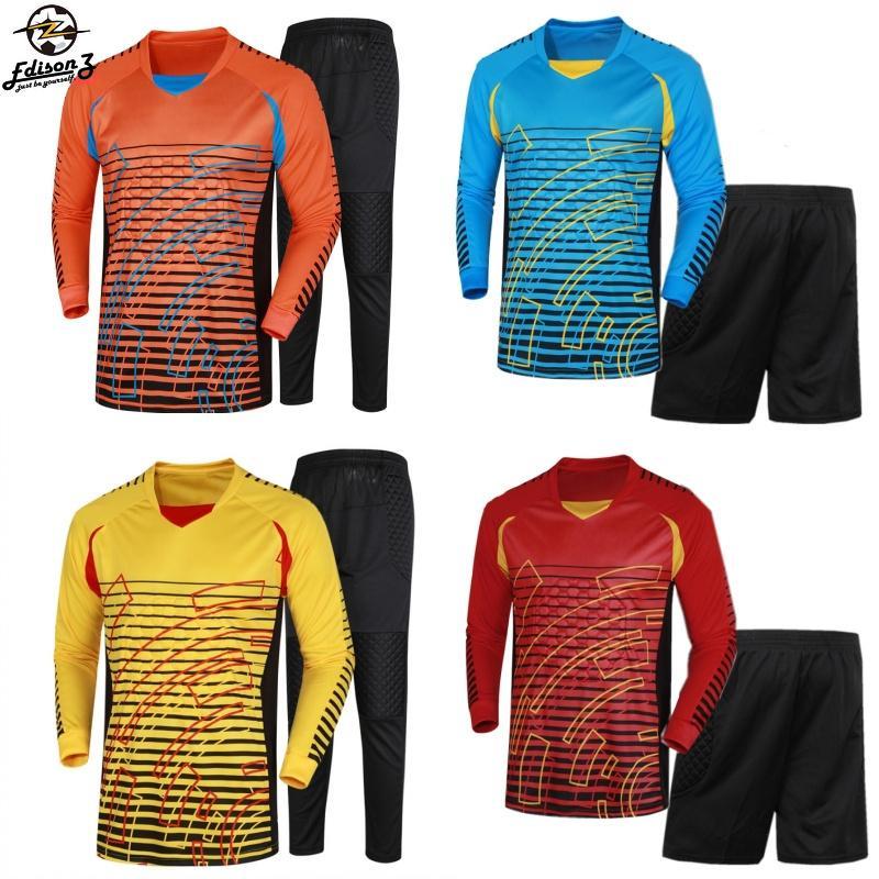 2019 Brand Men S Soccer Goalkeeper Jersey Football Sets 2018 19 Goal Keeper  Uniforms Suit Training Pants Doorkeepers Shirt Short Kit From Zysports c7c6f9e0d