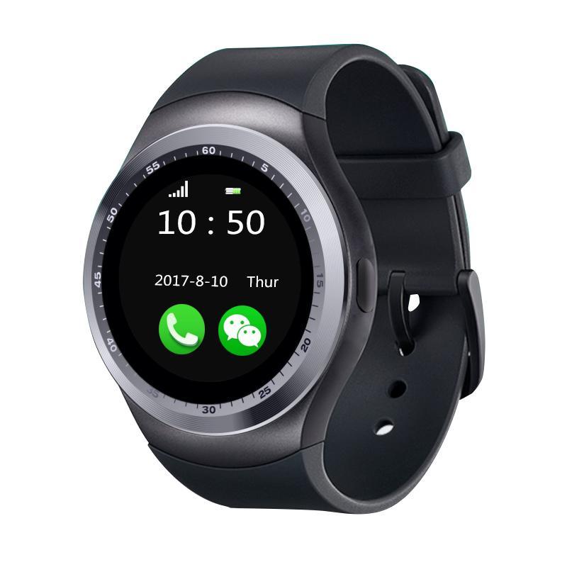 00e247ae4c84 Compre 2018 Nuevo Diseño Luxury Y1 Smart Watch Con Whatsapp Y Facebook  Twitter APP Mujeres Hombre Smartwatch Para IPhone HTC Xiaomi Digital A   25.58 Del ...
