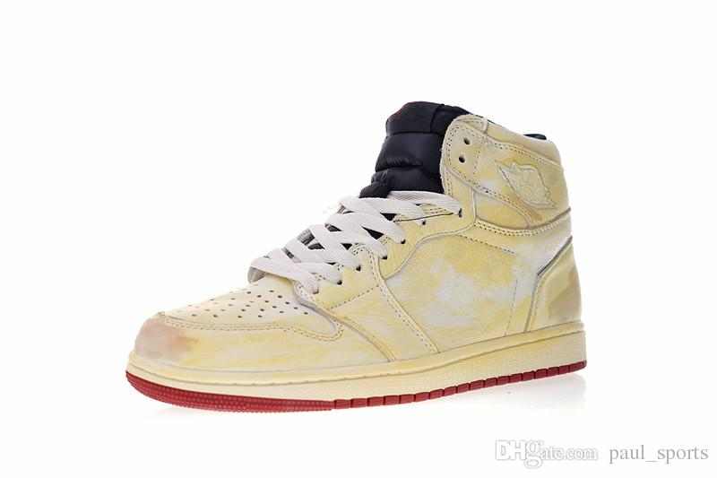 e6c32713f2c Nigel Sylvester X Jumpman 1 High Blking CO Beige Red Basketball Shoes Best  Quality 1s Men Women Designer Sneakers Size 36 45 Basketball Shoes Shoes  Men From ...