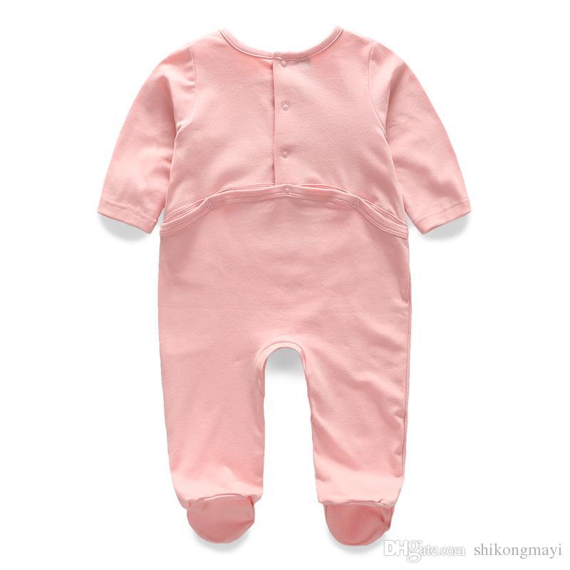 Mode Wilden Herbst Babyspielanzug Neugeborenen 0-12 Mt Kleidung Säuglingskostüm Baumwolle Baby Overall Langarm Baumwolle Kinder Kleidung