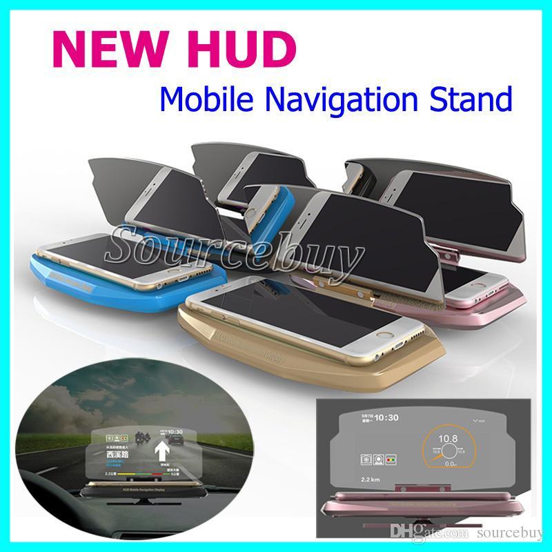 Universal Handy Auto Halterung Windschutzscheibe Projektor Hud Head Up Display Ständer 6 5 Zoll Für Iphone Samsung Telefon Gps Navigation Auto