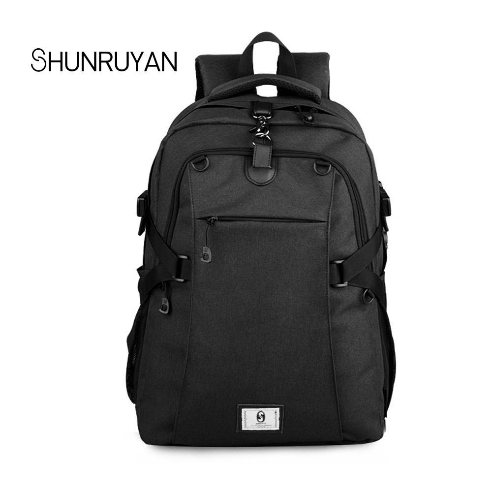 2ddf9d1faf31 SHUNRUYAN Brand Laptop Backpack Men S Travel Bags 2018 Multifunction  Rucksack Waterproof Oxford Computer Backpacks School Bag Rucksack Jansport  Backpacks ...