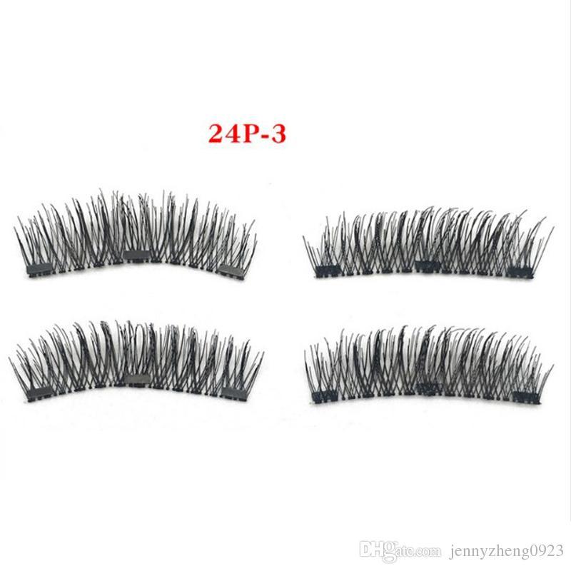 Tres Imán NO PEGADO Maquillaje Triple Pestañas Magnéticas Completas Set Pestañas Falsas Aspecto Natural Hecho A Mano Suave Desordenado