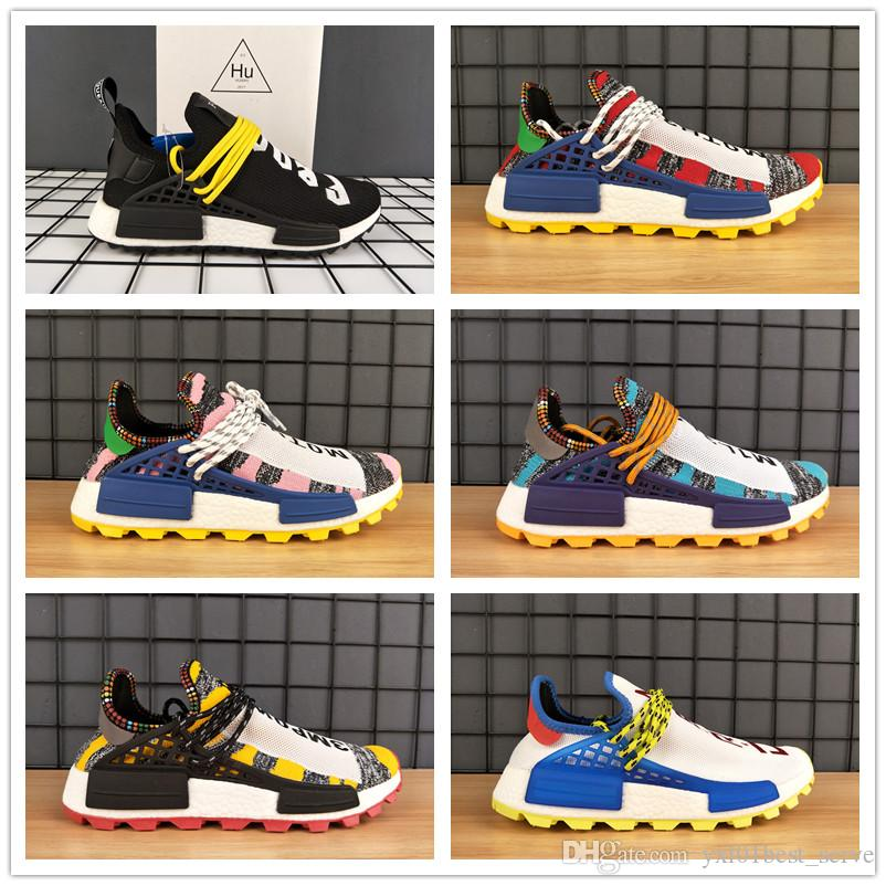 14d9fb9058e5 2018 BBC X NERD Human Race Pharrell Williams Trail Solar Pack PW HU Designer  Running Shoes AAA+ Quality Men Women Luxury Trainers 36 45 Best Running  Shoes ...