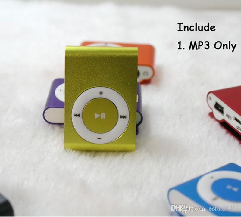 NEW Fashion Mini Cheap Clip Digital Mp3 Music Player USB with SD card Slot black silver mixed colors DHL Free