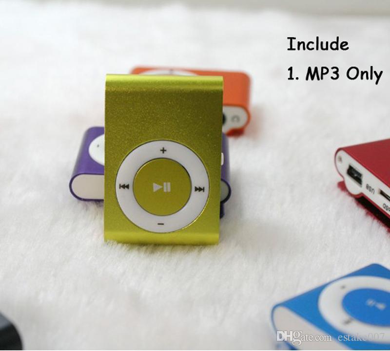NUEVA moda Mini Clip barato Reproductor de música Mp3 digital USB con ranura para tarjeta SD negro plata colores mezclados DHL Gratis