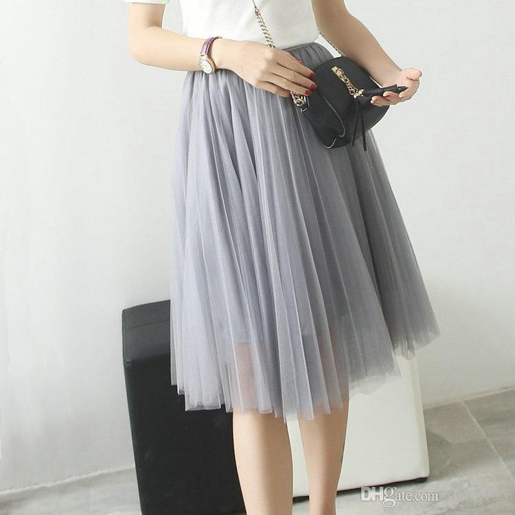 bf7b763478 Women Long Mesh Skirt Dress Elegant Ladies Summer Casual Dress Bohemian  Style Beach Pleated Skirt Cover-Ups OMG1201