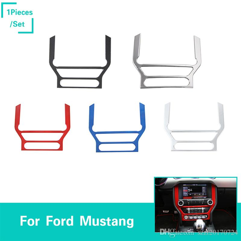 car dashboard gps frame panel decoration covers abs for ford mustang 2015  2016 auto styling interior accessories car mats and seat covers car mats  and