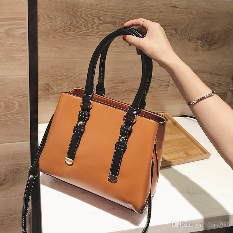 2018 New Style Hand Bags PU Leather Top-Handle Bag Women Fashion ... f6636fa494992