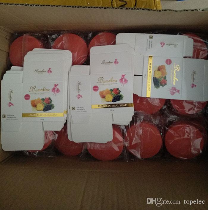 Bumebime Handarbeit-weiß werdene Seife mit Frucht-wesentlicher natürlicher Schablonen-weißer heller Öl-Seife geben shiping DHL frei