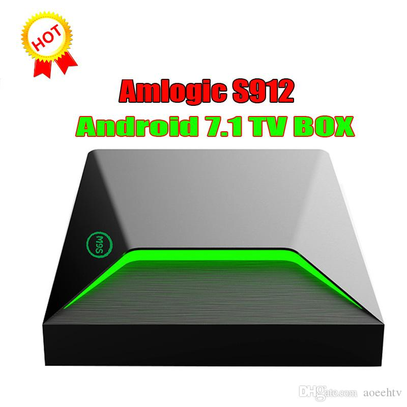 2018 Octa Core Android TV Box 7 1 M9S Z9 S912 2gb 16gb 1000M Lan BT4 0 dual  wifi Android 7 1 smart tv box Better T95Z PLUS X92 TX3