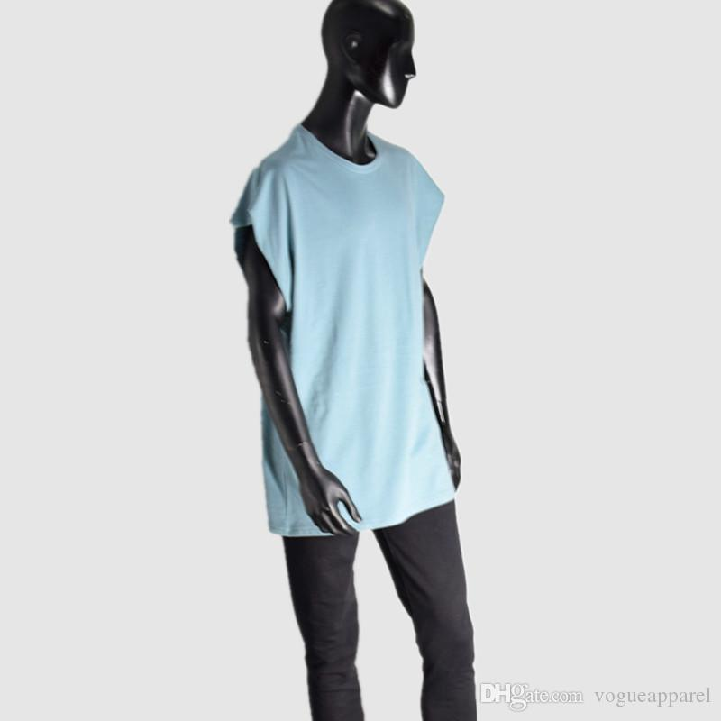 Men Summer Loose Casual Tank Tops Sleeveless Tshirts Street Hip Hop Oversize Tees Top