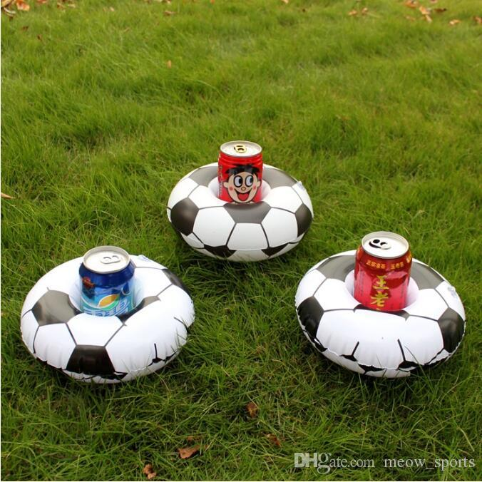 Aufblasbare Fußball Getränkeglashalter Pool Schwimmt Getränkehalter Fußball Schwimm Spielzeug Kindergeburtstag Party Pool Strand Spielzeug