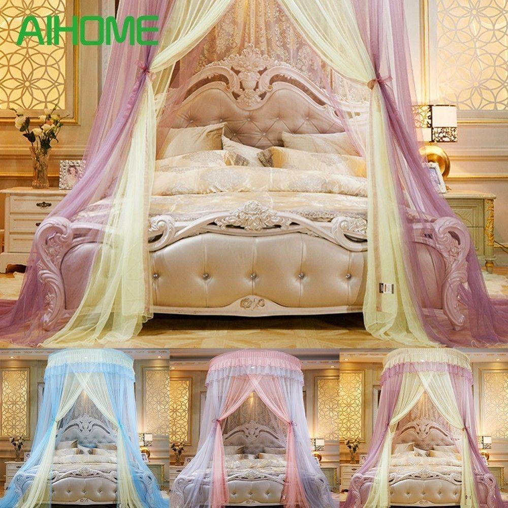 Grosshandel Colorblocking Hung Dome Moskitonetze Fur Sommer