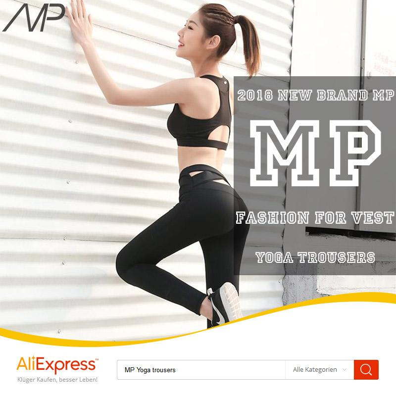 In 2018 MP Hot Best New Fitness Pants Cross Yoga Leggings Women Stretch Tight Hip Pants High Waist Running Trousers Quick Dry