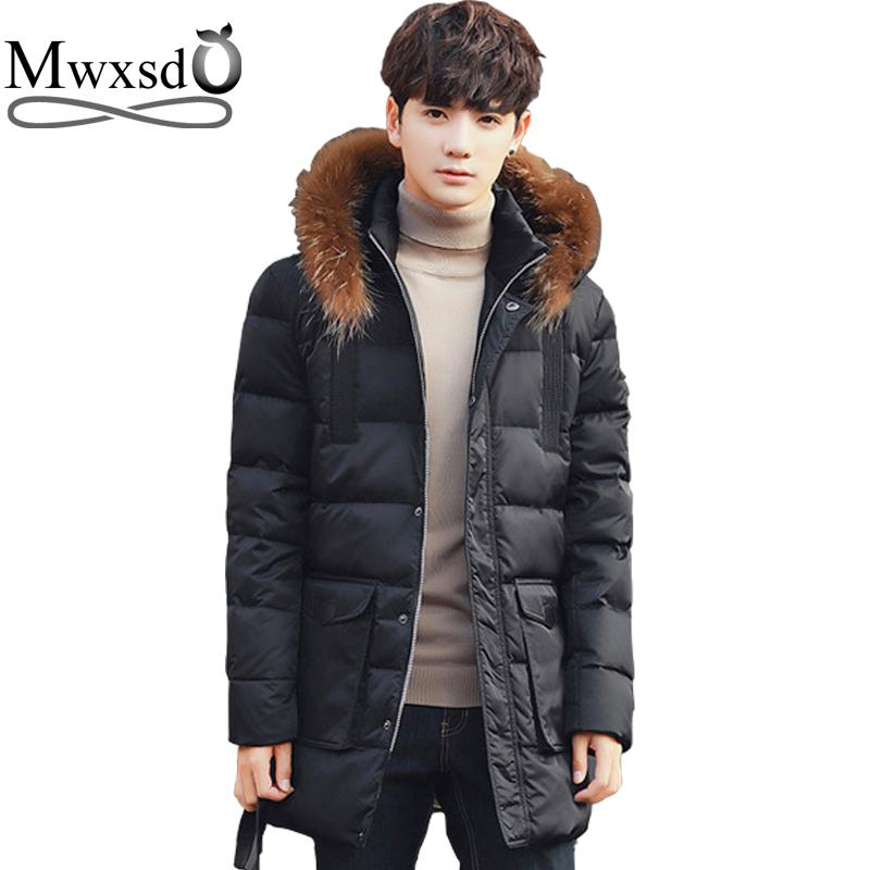 Jackets & Coats Brave 2016 Hot Parka Men Mens Down Coat Winter Down Jacket White Duck Down Fur Collar