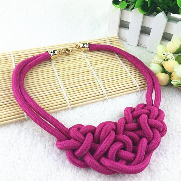 2016 Hot Sale Cotton Necklace Shourouk Statement Necklace Choker Necklaces & Pendants Women Gift Kolye Fashion Jewelry