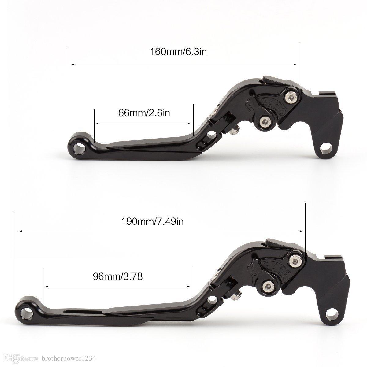 Palancas de embrague de freno extensibles ajustables para DUCATI Diavel Carbon XDiavel S1199 Panigale Tricolor 899 1299 R959 MONSTER 1200