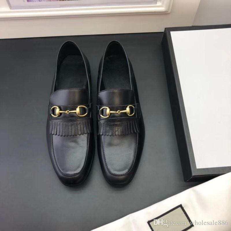 2018 Luxo Mens Mocassins Sapatos De Couro Vestido de Casamento Casuais Sapatos de Caminhada Trabalho de Escritório Made in Italy Sapatos Tops Size38-44