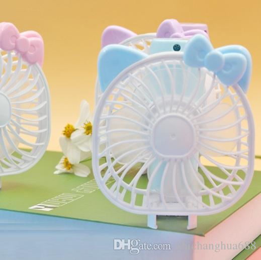Mini Folding Portable Fan Cartoon Cat USB Rechargeable Foldable Handheld Summer Air Cooler Cooling Fan Portable Fan Kids Toys
