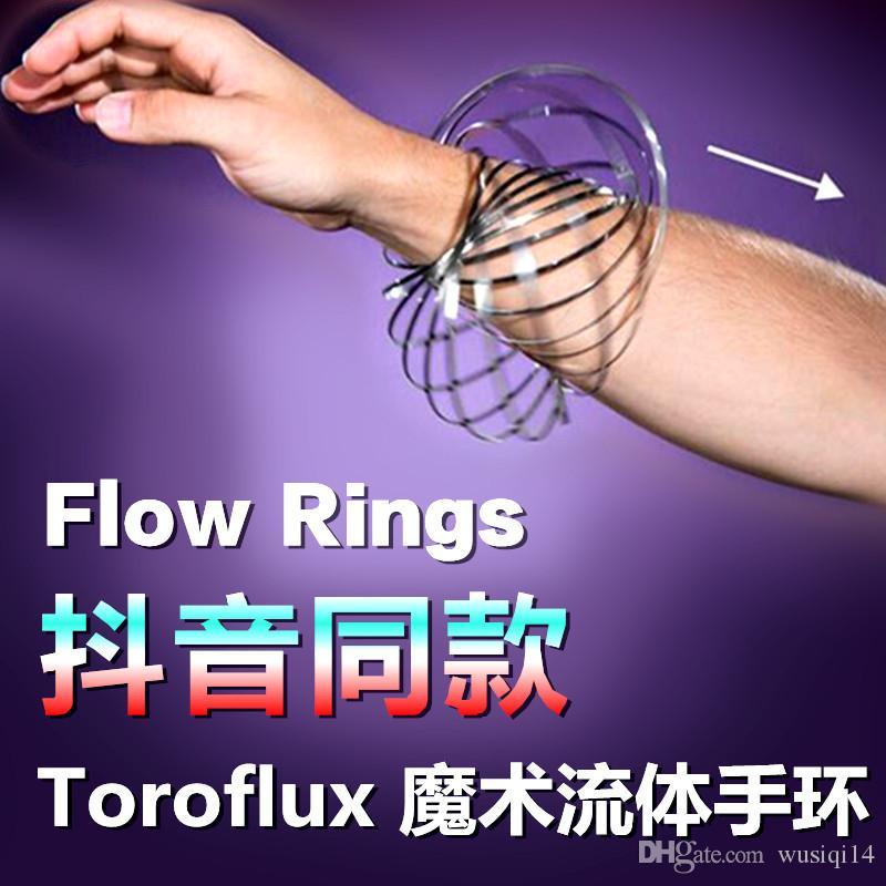 Großhandel New Amazing Flow Spielzeug Flow Ring Metall Frühling